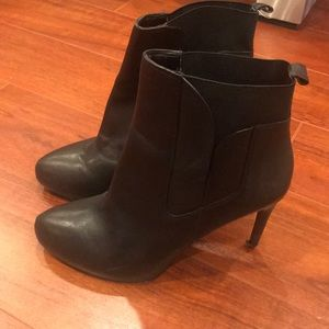 Charles David black leather boots